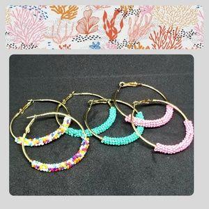Jewelry - ➕JUST IN!!! ADD ON ONLYBeaded Gold Hoop Earrings